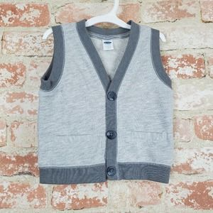NWOT Old Navy Button Up Gray Vest